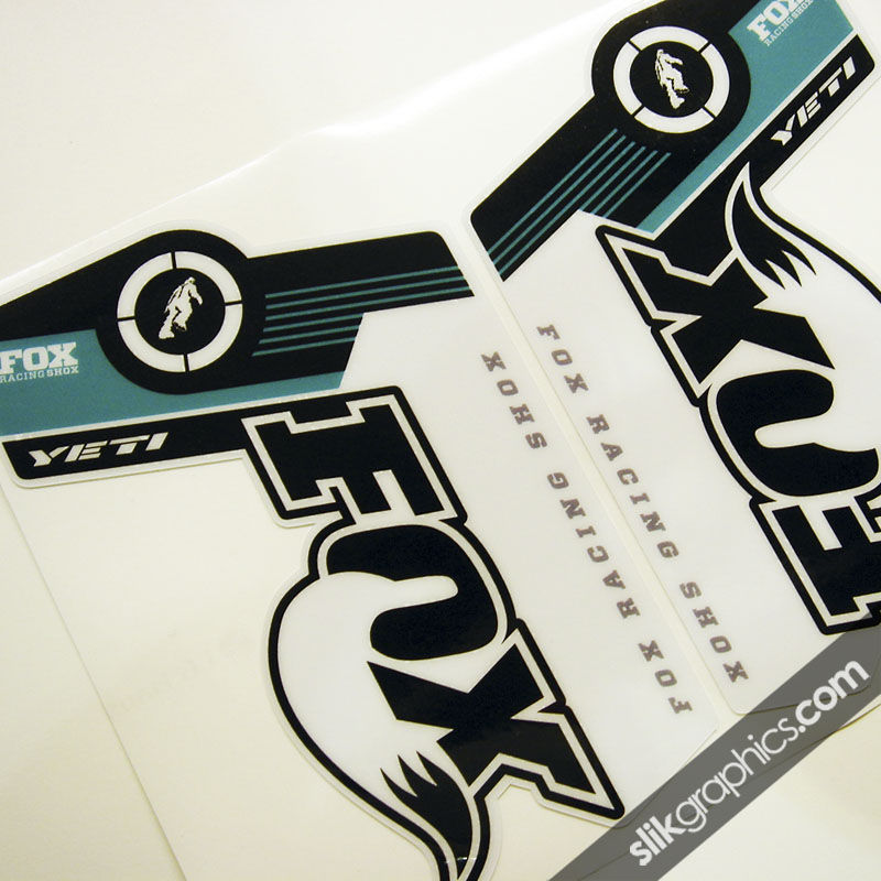 Yeti Edition Decal Kit For Fox Forks Slik Graphics