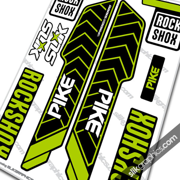 rockshox pike 2013 style decals yt industries edition
