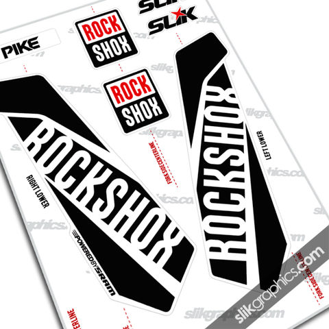 Rockshox,PIKE,2015,Style,Decals,-,White,Forks, PIKE, 2015, fork decals, forks, decals, stickers