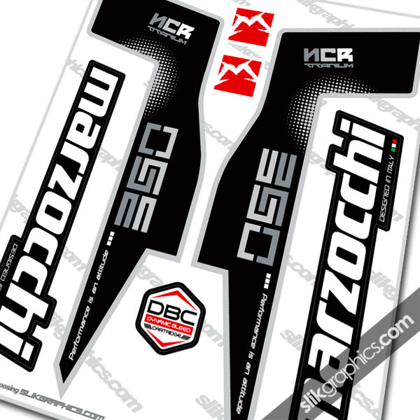 Marzocchi 350 NCR Titanium Style Decal Kit - product images  of