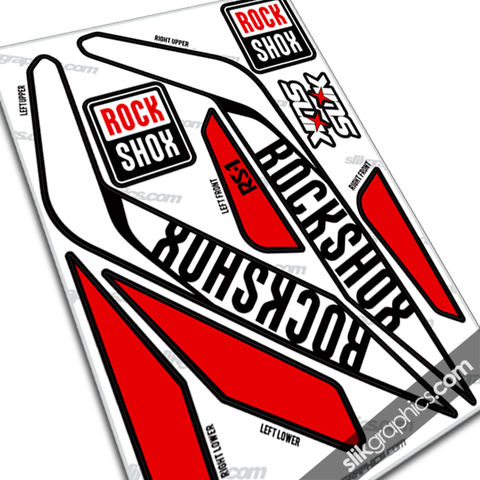 RockShox,RS-1,Style,Decals,-,Black,Forks,Rockshox, RS-1, RS1, forks, decals, stickers