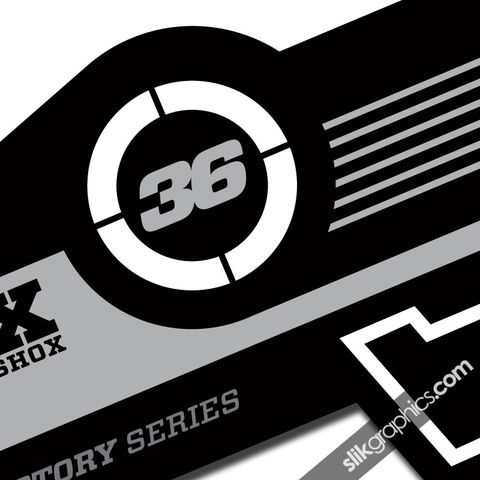 Fox,36,Factory,Style,Decal,Kit,-,Black,Forks,Fox 36, fork decals, stickers
