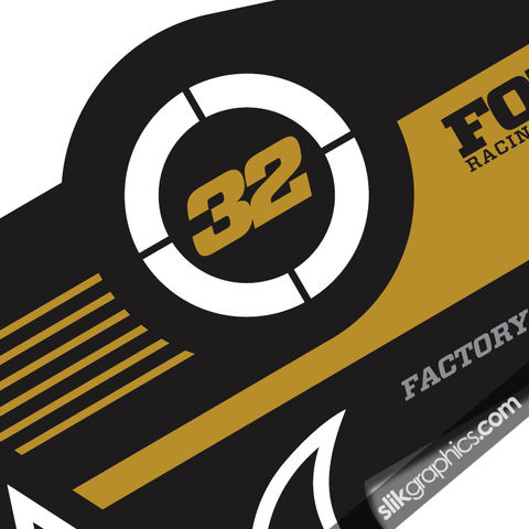 Fox,32,Factory,Style,Decal,Kit,-,Black,Forks,Fox 32, fork decals, stickers