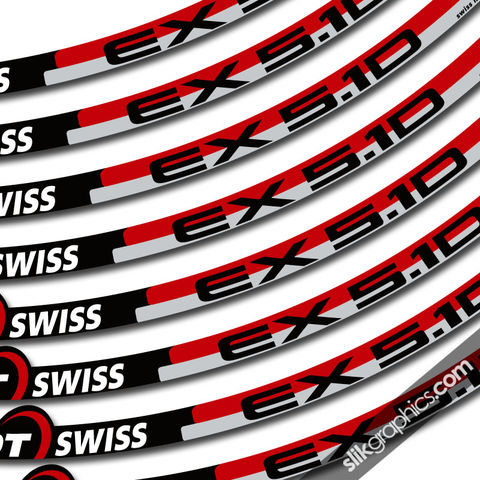 DT,Swiss,5.1D,Style,Decal,Kit,DT Swiss, 5.1D, rim decals, stickers