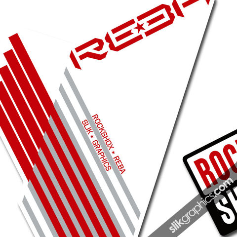 Rockshox,Reba,2009-2010,Style,Decals,-,White,Forks, Reba, Fork decals