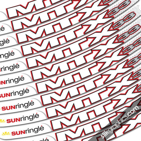 Sun,Ringle,MTX,33,Style,Rim,Decals,-,White,Rims,Sun Ringle, MTX 33, rim decals