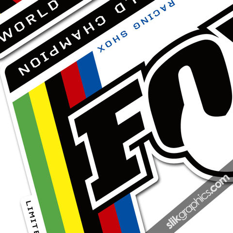 Fox,World,Champion,Style,Decal,Kit, World Champs, Fork decals