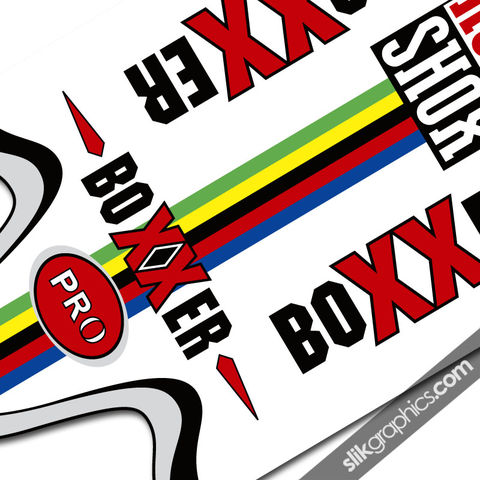 Rockshox,Boxxer,Anniversary,Style,Decals,rockshox, Boxxer, fork decals, boxxer anniversary, stickers