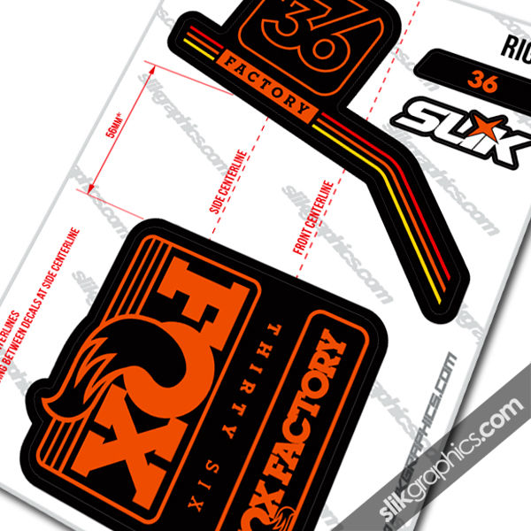 Fox 36 2016 style decal kit black forks product images of