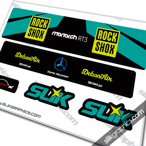 2016,Rockshox,Monarch,RT3,DebonAir,Style,Decal, Rockshox, Monarch RT3, RT3, Debonair, shock decals, decals, stickers