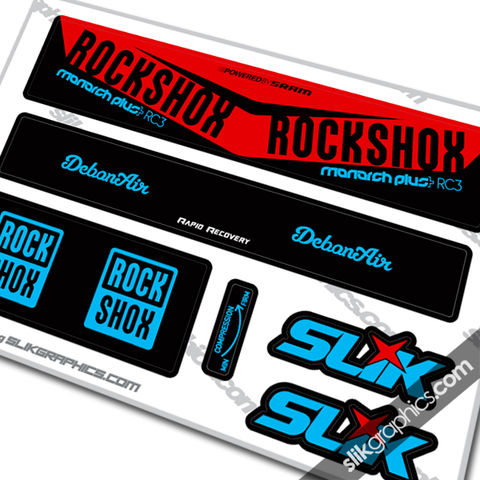 2016,Rockshox,Monarch,Plus,RC3,DebonAir,Style,Decal, Rockshox, Monarch Plus, RC3, Debonair, shock decals, decals, stickers