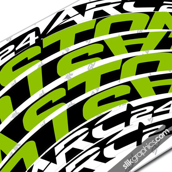 Easton ARC 24 Style Rim Decals - Slik Graphics
