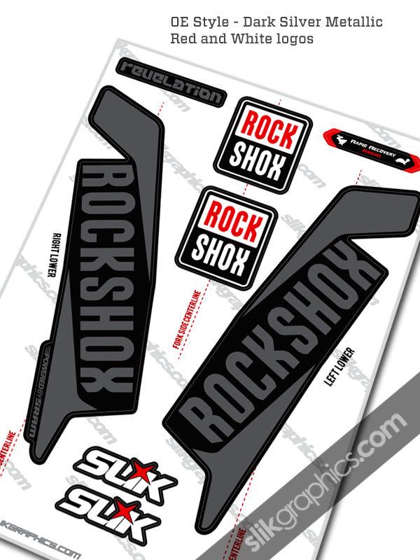 Rockshox Revelation 2016 Style Decals Black Forks Slik