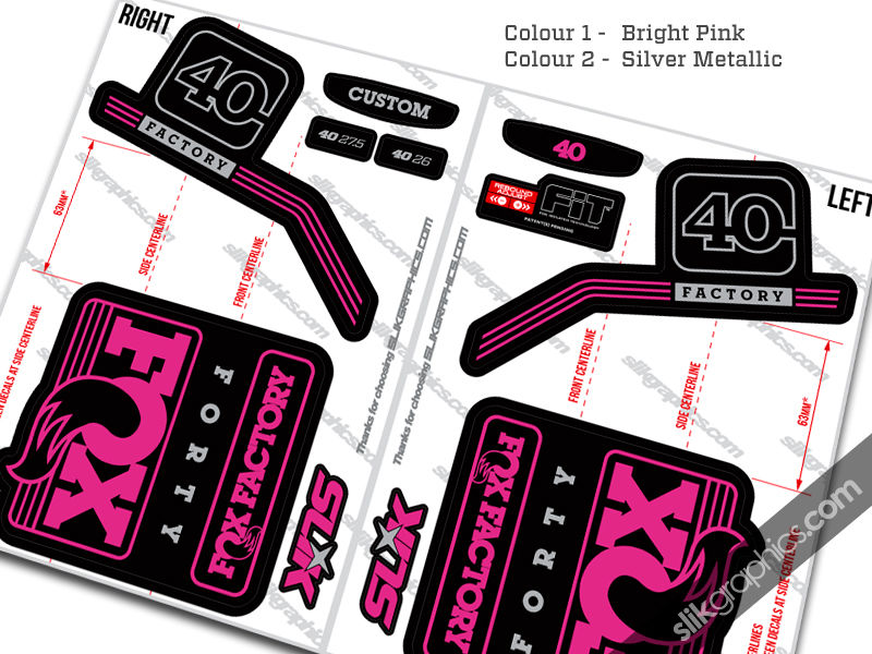 Fox 40 2016 style decal kit black forks slik graphics - Pink fox instagram ...