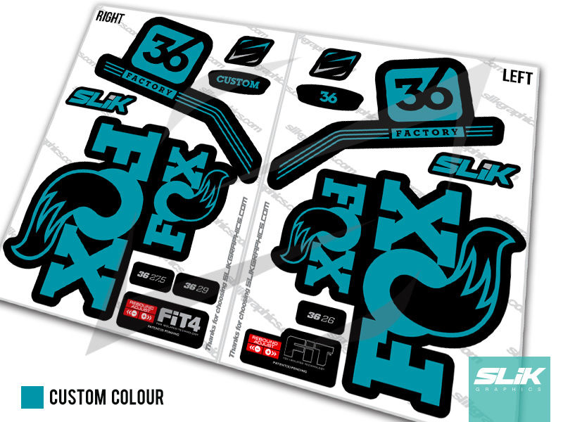 Fox 36 Pro Issue Style Decal Kit - Black Forks - product images  of