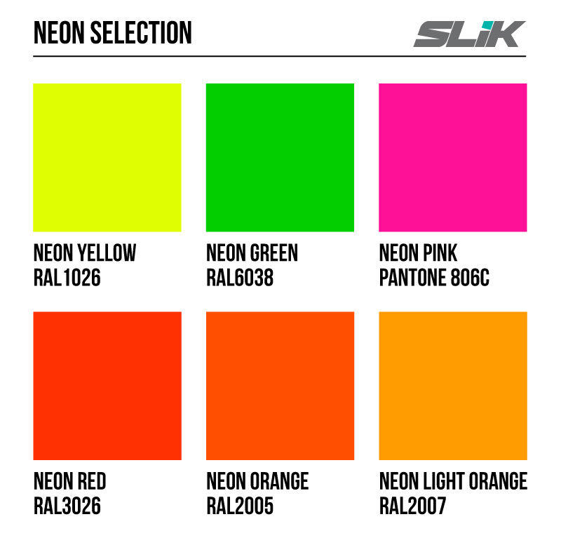 Neon Paint Color Chart