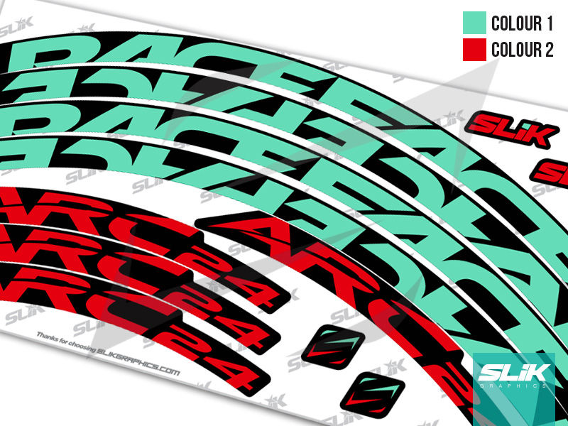 Red RaceFace Decal Kit for Arc 27 Rims