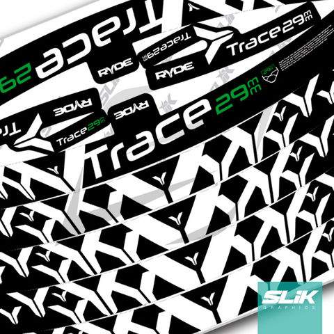 Ryde,Trace,29,Rim,Decal,Kit, Trace, Trail, 29mm, Rim decals, rim stickers, decal kit