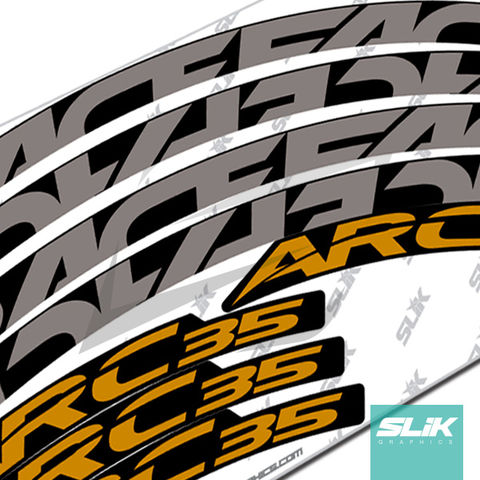 RaceFace,ARC,35,Style,Rim,Decals,Easton, RaceFace, Race Face, ARC, ARC 35, Stickers, rim decals