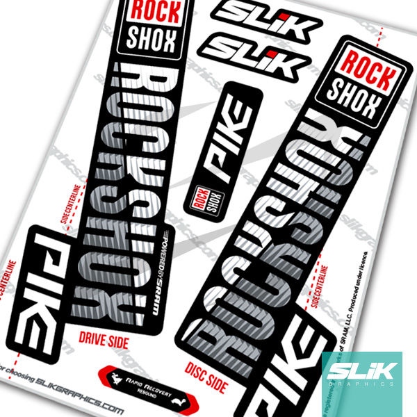 RockShox PIKE 2018 Style Decals - Black Forks - product images  of