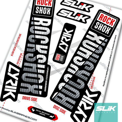 RockShox,LYRIK,2018,Style,Decals,-,Black,Forks,Rockshox, LYRIK, 2018, forks, decals, stickers,