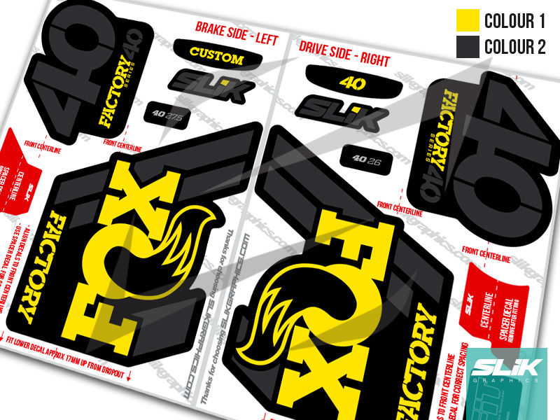 Fox 40 2018 factory style decal kit black forks product images of