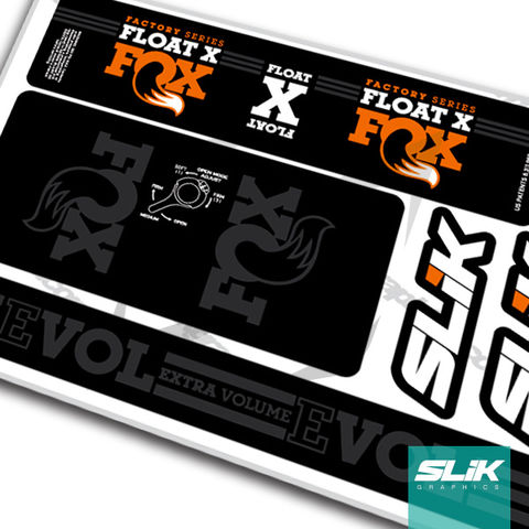 Fox,Float,X,2016,Style,Shock,Decals, Float X, 2016, Float, shock decals, decals, stickers