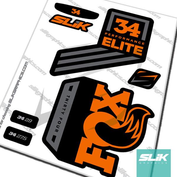 FOX 40 Performance Elite 2017 Fork Sticker Decal Set