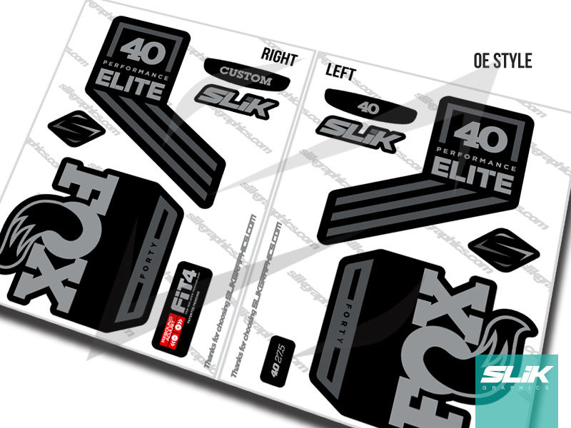 Fox 40 2018 performance elite decal kit black forks product images of
