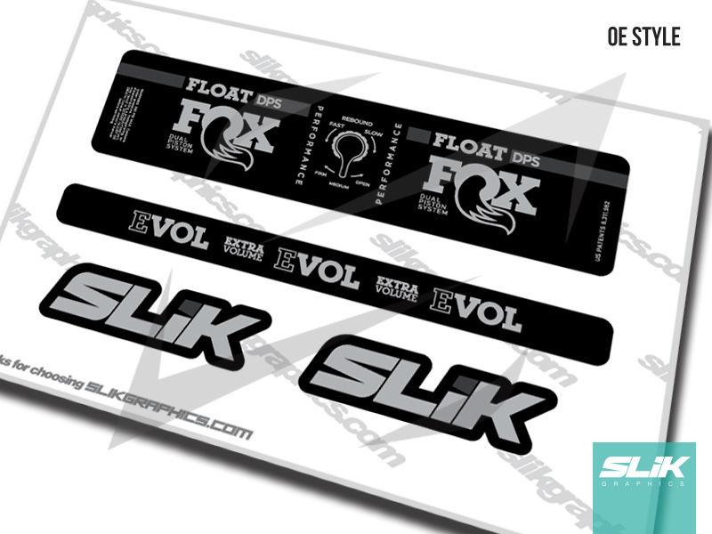 FOX DPS Float EVOL Performance 2018 Rear Shock Sticker Factory Decal Gray