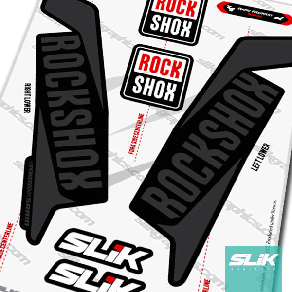 fork decals rockshox collection slik graphics