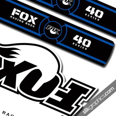 Fox,40,OE,Style,Decal,Kit,-,White,Forks,Fox 40, fork decals, stickers