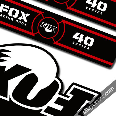 Fox,40,OE,Style,Decal,Kit,-,Black,Forks,Fox 40, fork decals, stickers