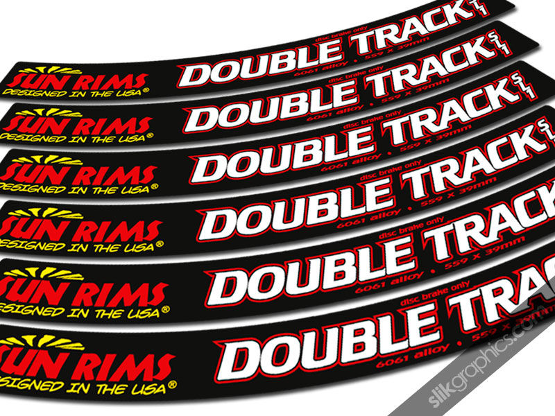 Sun Double Track SL1 Style Rim Decals - product images  of