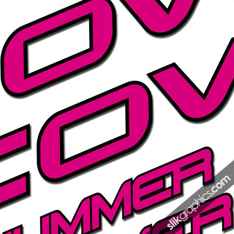 Cove,Hummer,Decal,Kit, Hummer, Decals, Stickers