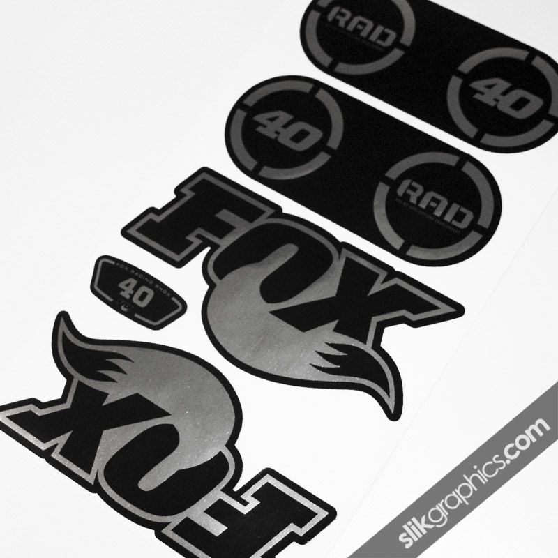 Fox 40 RAD Chrome Decal Kit - product images  of