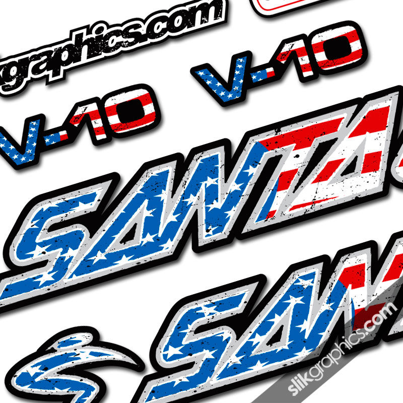 Santa cruz v10 nations decal kit product images of