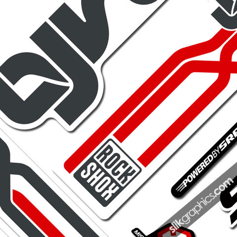 RockShox,Lyrik,2009,Style,Decals,-,White,Forks,Rockshox, Lyrik, 2009, Fork, decals, stickers