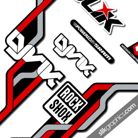 RockShox,Lyrik,2010,Style,Decals,-,Black,Forks,Rockshox, Lyrik, 2010, black, forks, decals, stickers