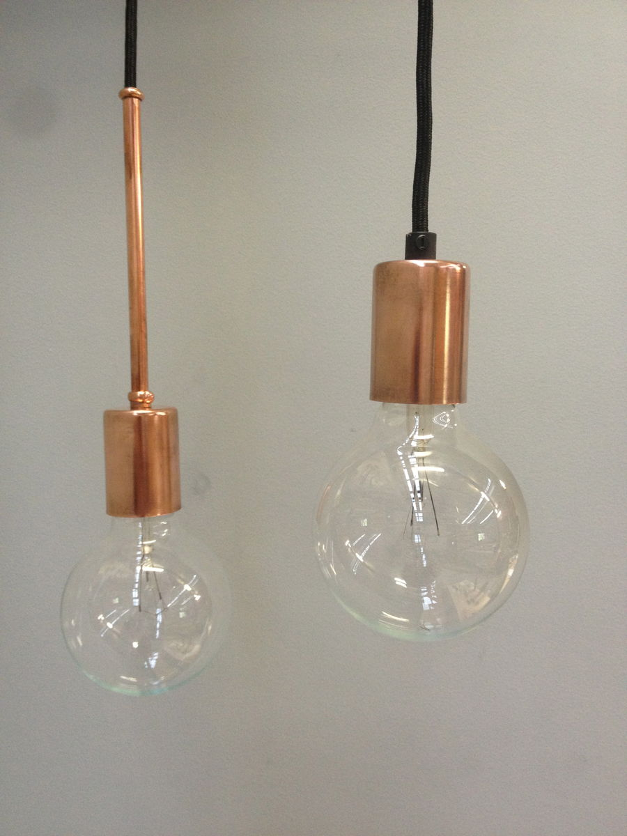 single copper pendant light product images