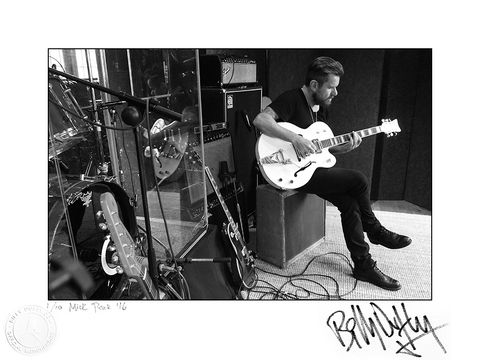 Signed,Photo,Rehearsal,Studio,1/10,Billy Duffy Signed Photo The Cult