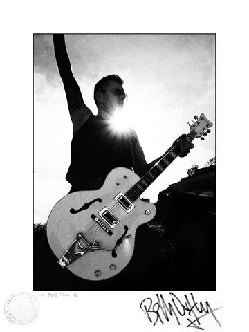 Signed,Photo,Silhouetted,in,L.A.,1/10,Billy Duffy Signed Photo The Cult