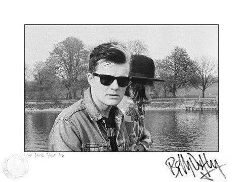 Signed,Photo,Billy,&,Ian,at,Eel,Pie,1/10,Billy Duffy Signed Photo The Cult Ian Astbury