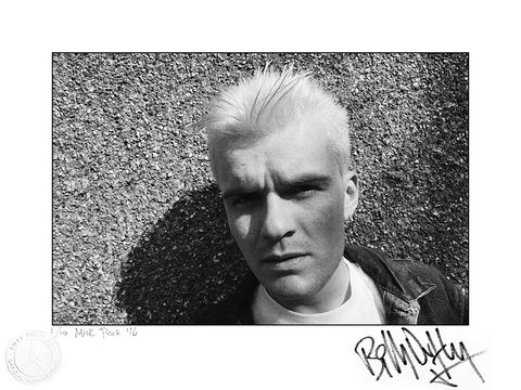 Signed,Photo,Billy,goes,blonde,-,1984,1/10,Billy Duffy Signed Photo The Cult