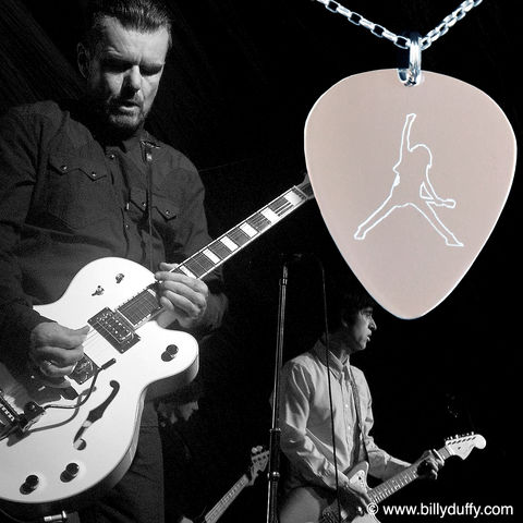 Signed,Photo,&,BD,Logo,Silver,Pick,Pendant,Bundle,3,Billy Duffy Signed Photo The Cult