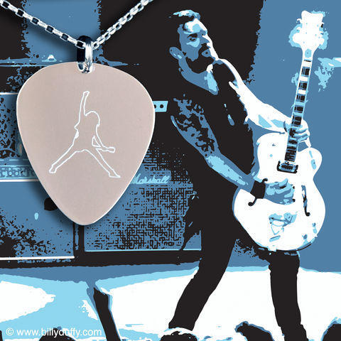 Signed,Print,&,BD,Logo,Silver,Pick,Pendant,Bundle,5,Billy Duffy Signed Photo The Cult