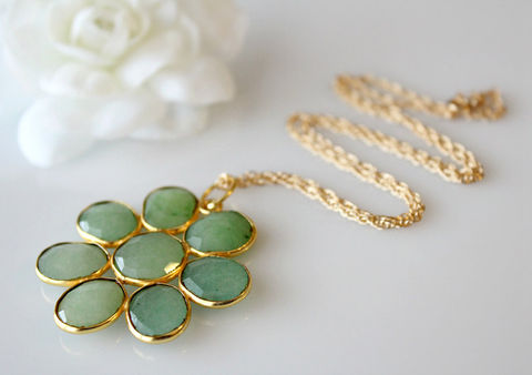 Large,Chrysoprase,Daisy,Style,Necklace,,Statement,Green,Brazilian,Chrysoprase,,Gemstone,Flower,Pendant,,Gold,Vermeil,Jewelry,Necklace,Stone,Gold_Vermeil,Pendant_Necklace,bygerene,Green_Chrysoprase,large_green_pendant,Apple_green_gemstone,statement_necklace,chrysoprase_jewelry,daisy_flower,large_flower_pendant,gemstone_flower,floral_pendant,gold filled,24k gold