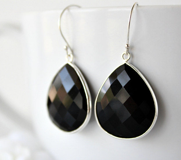 fullxfull il onyx products gemstone earrings jewelry black grande dangle drops silver jet bezel medium sterling