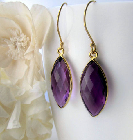 Amethyst,Marquise,Drop,Earrings,,Purple,Amethyst,,Bezel,Dangle,,February,Birthstone,Jewelry,natural_amethyst,african_amethyst,purple_drop_earrings,amethyst_marquise,purple_bezel_dangle,violet_earrings,february_birthstone,24k_gold_vermeil,purple_marquise,purple_marquis,long_diamond_shape,deep_purple_drop,bygerene,Natural African Amethyst