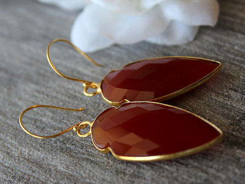Arrow,Red,Carnelian,Drop,Earrings,,Burnt,Dangle,,Gemstone,,Jewelry,,Dagger,Earrings,     Jewelry   ,  Earrings   ,  Dangle ,    drop earrings ,    red carnelian   ,  red gemstone   ,  burnt red ,    long red dangles     carnelian jewelry     red earrings     deep red stone    , Burnt Red Dangle   ,  24k Gold Vermeil,     genuine Carnelia
